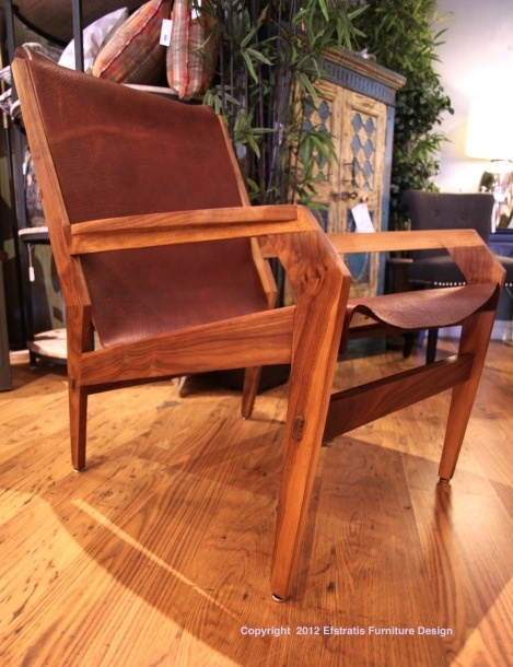 20th century modern leather lounge chair the stratis sling leather homeslounge plywoodmid
