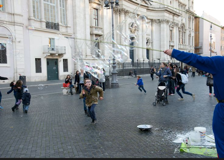 The #joy of #children playing in #PiazzaNavona