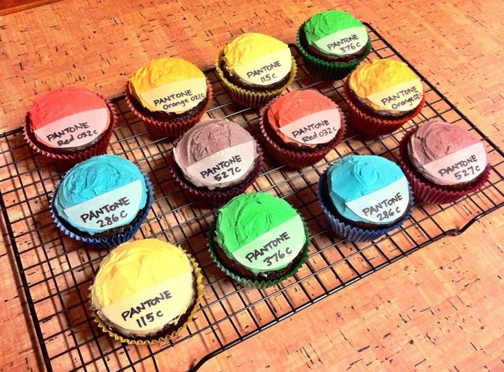 Pantone cupcakes