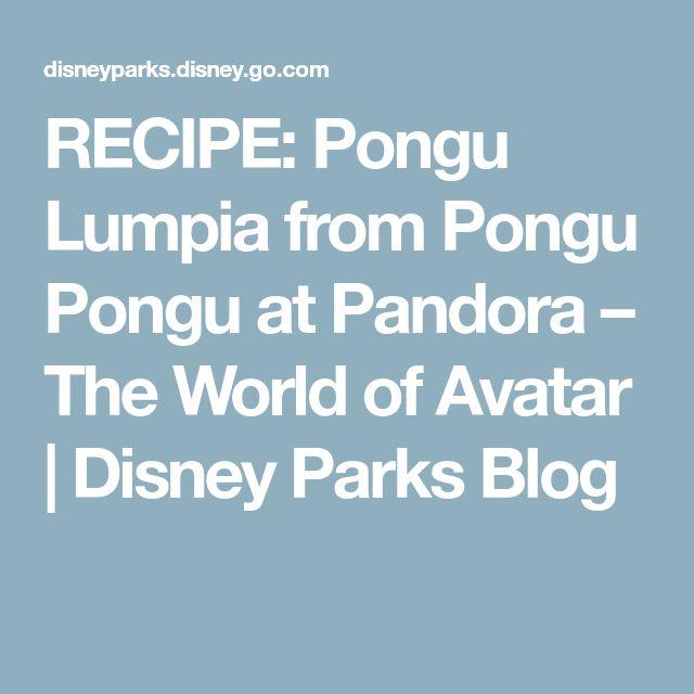 RECIPE: Pongu Lumpia from Pongu Pongu at Pandora – The World of Avatar | Disney Parks Blog