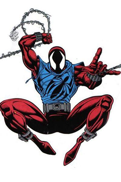 Scarlet spider: Blue sleeveless hoodie