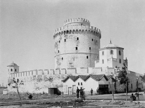 O Λευκός Πύργος με το προτείχισμα το 1896