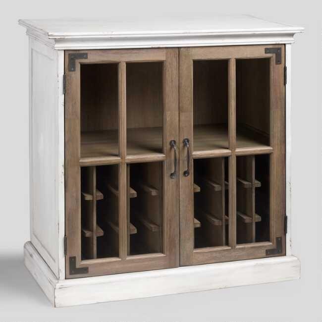 Two Tone Wood Camilla Farmhouse Bar Bar Furniture Wine Rack Design Farmhouse Cabinets