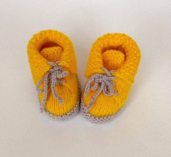 Baby Booties Sunshine made with much love Booties от EcoCrochetArt