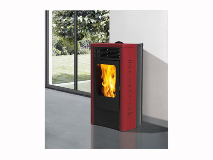 stufa a pellet dida 12kw bordeaux. Black Bedroom Furniture Sets. Home Design Ideas
