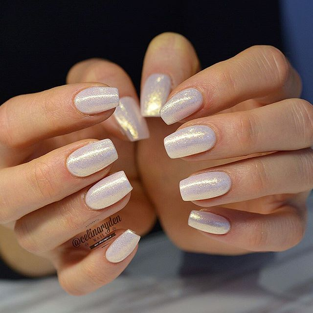 Pearl White Nails