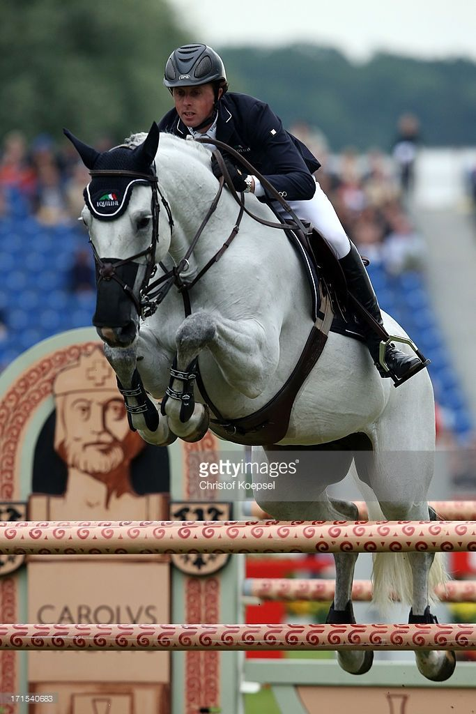 Ben Maher of Great-Britain rides on Cella during the Warsteiner Price jumping competition during day two of the 2013 CHIO Aachen tournament on June 26, 2013 in Aachen, Germany.