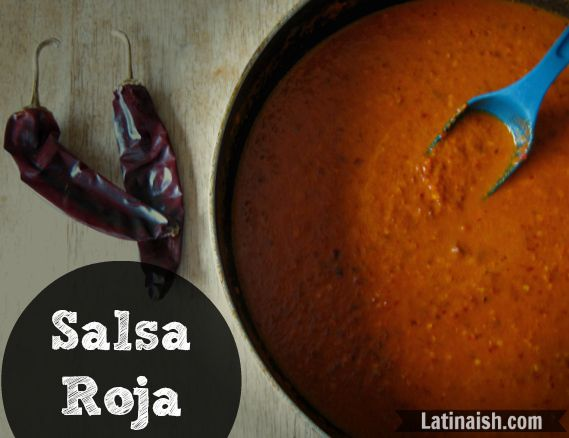 Salsa roja, red sauce with dried chile peppers, for Pouring on top of Mexican dishes
