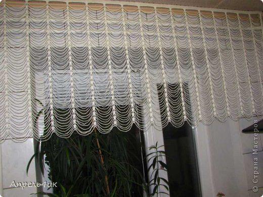 Вязание крючком - Занавеска на кухню