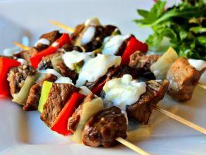 Click here to download my Lamb Souvlaki with Tzatziki recipe x  http://www.kimbeach.com/free-resources/recipes/lamb-souvlaki-with-tzatziki/