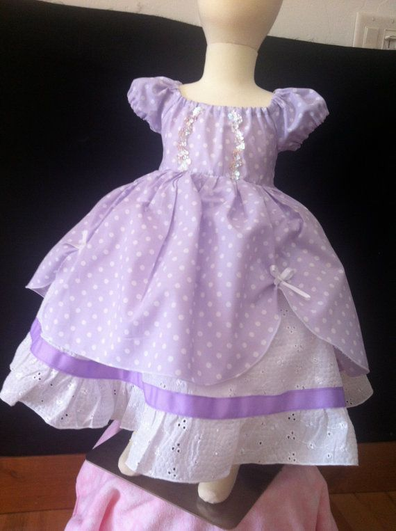 Princess Sofia the First 1st inspired dress Disney by SoSoHippo, $62.00