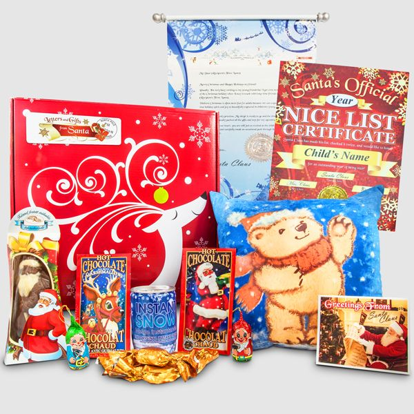 Santa's Letter & Teddy Gift Package - Reindeer Box