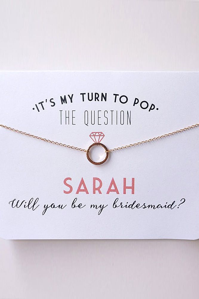 Super Fabulous Bridesmaid Proposal Ideas ❤ See more: http://www.weddingforward.com/bridesmaid-proposal-ideas/ #weddings ** Mejor con la inicial de cada dama :)