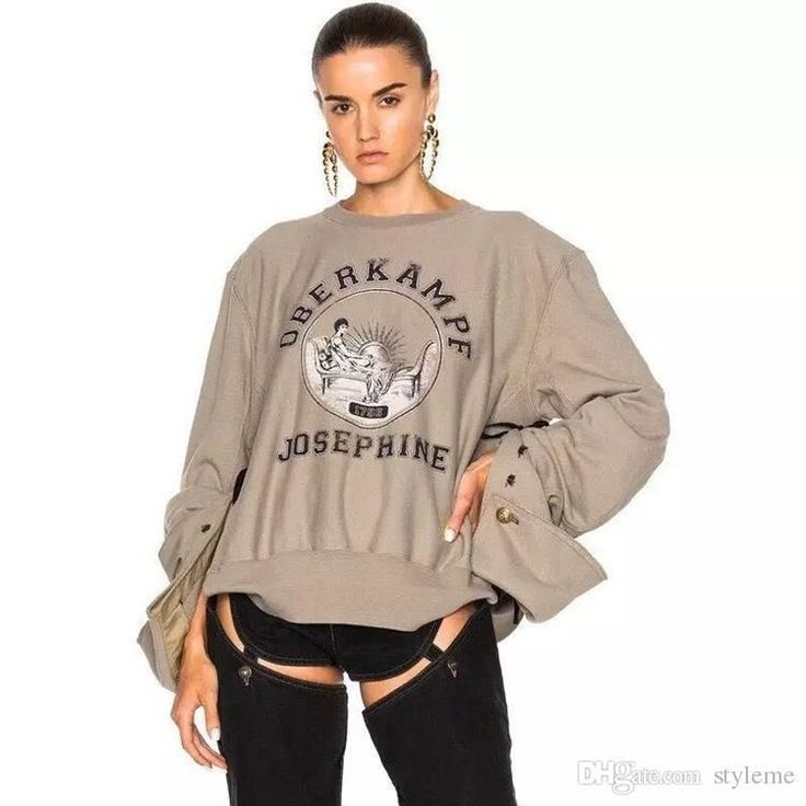 2018 Brand Designer Kendall Jenner Hoodies 2017 Autumn Winter Women Fashion  Celebrity Casual Oversized Sweatshirts Pullovers