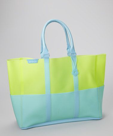 Crocs Green & Blue Jelly Translucent Beach Tote | .tyxgb76aj