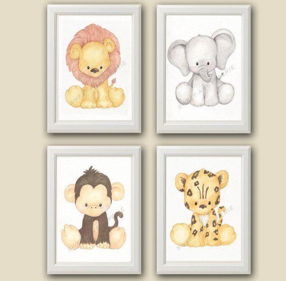 Baby Leopard Safari Nursery Art Decor Print