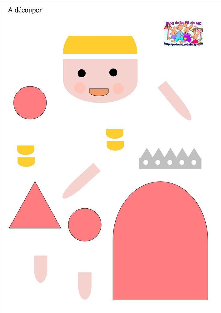 La très grande princesse - Recomposer les personnages en fonction d'un modèle - La classe de Petite Section de MC