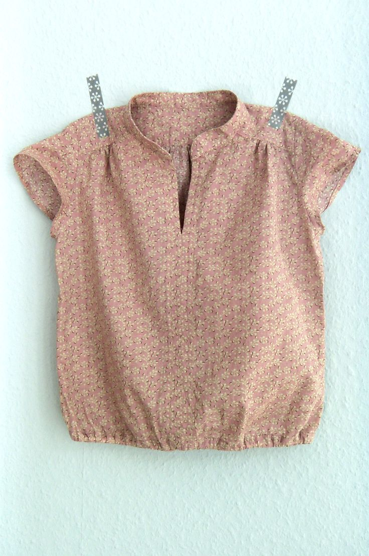 pattern: Ayashe Blouse / Figgy's Patterns | size: 7/8 T cut to 4T length