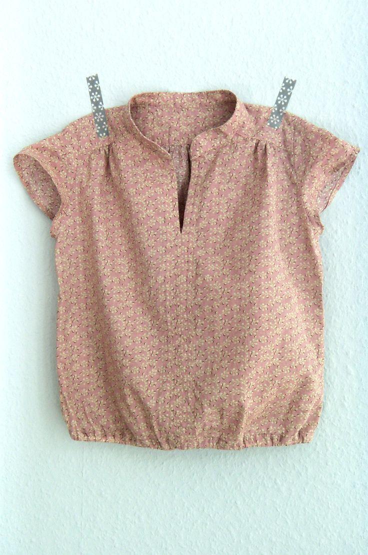 pattern: Ayashe Blouse / Figgy's Patterns | size: 7/8 T cut to 4T length