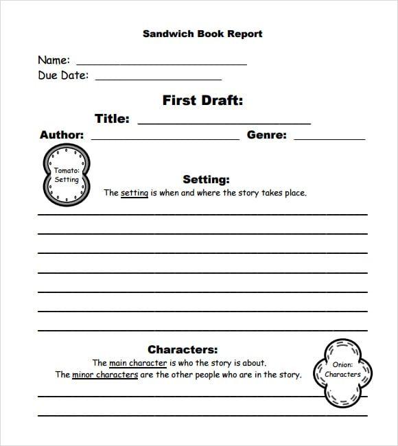10 Book Report Templates Book Report Report Template