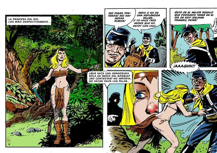 """""""Principessa indiana"""", fumetto disegnato per William Gezzio"""
