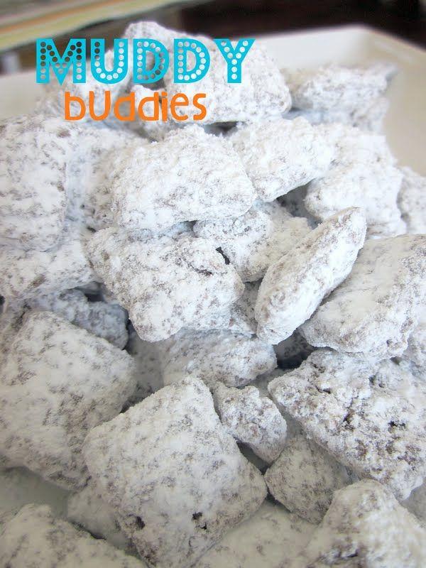Muddy BuddiesDesserts, Muddy Buddies, Puppy Chow Recipes, Chow Chow, Snacks, Peanut Butter, Six Sisters Stuff, Puppies Chow, Muddy Buddy