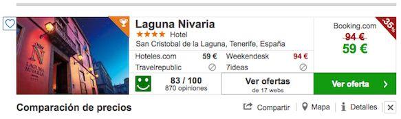 Chollo Hotel Laguna NivariaChollo Hotel Laguna Nivaria