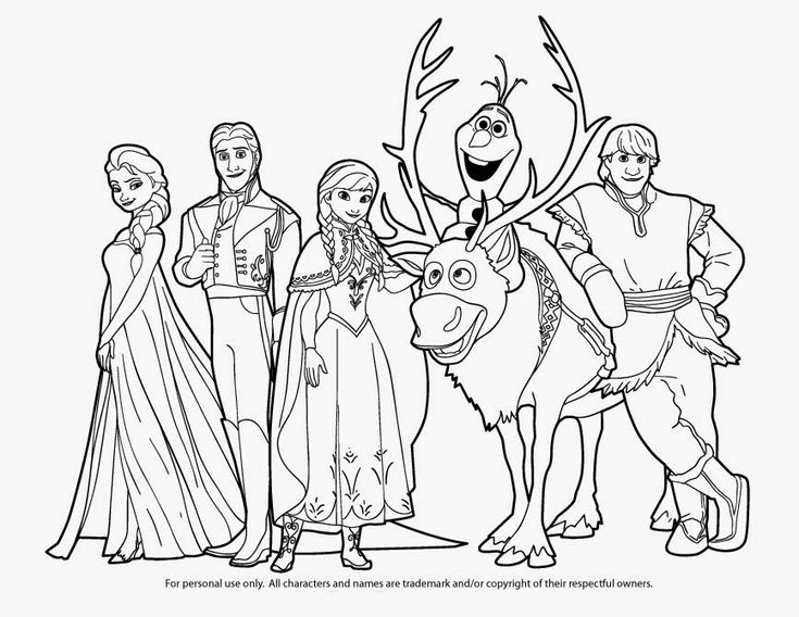 frozen coloring pages sven kristoff - photo#21
