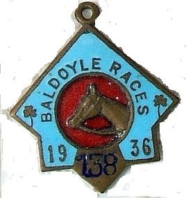 1936 Baldoyle annual badge