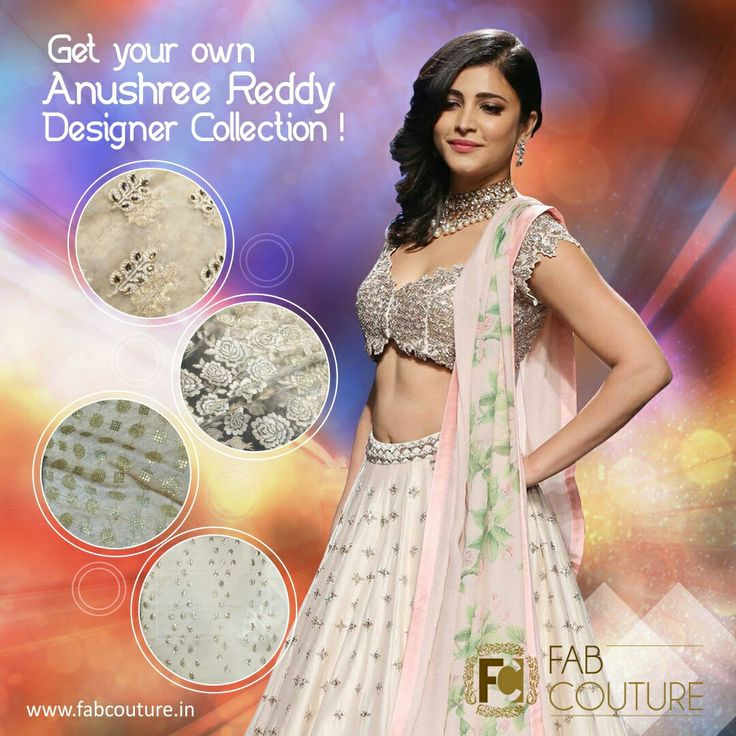 Get your own #AnushreeReddy #designer #lehenga at #FabCouture!#DesignerFabric at #AffordablePrices.  And give wings to your dreams.Buy your stock of fabric from:https://fabcouture.in/embroidered-indian-fabrics.html #ShrutiHassan #DesignerLehanga #Fabric #Fashion #FabCouture#DesignerWear #ModernWomen #Georgette #WeddingFashion#IndianLook #affordablefashion #GreatDesignsStartwithGreatFabrics#LightnBrightColors #StandApartfromtheCrowd #EmbroideredFabrics