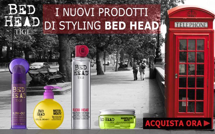 I nuovi Prodotti di Tigi Bed Head: #BlowOut #ManipulatorMatte # MotorMouth #FlexiHead. Styling da Paura!!