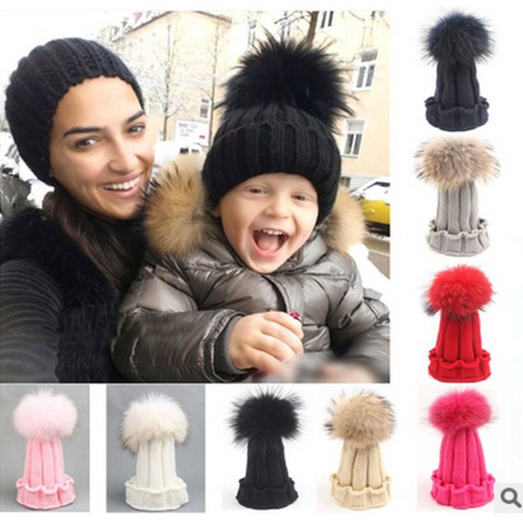>> Click to Buy << Baby Hat Infant 15cm Real Raccoon Fur Ball Hat Cute Children's Winter Hats For Girl Boys Winter Caps All For Children's Clothing #Affiliate