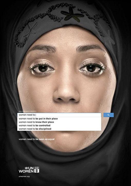 La agencia Memac Ogilvy & Mather Dubai ha tomado como referencia las sugerencias reales del buscador Google del 9 de marzo de 2013 para crear esta impa