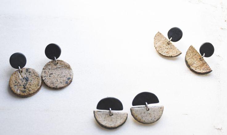 ceramic & polymer clay earrings