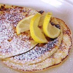 British-style pancakes... the ones they make for Pancake Tuesday! Yes, I finally looked up a recipe...