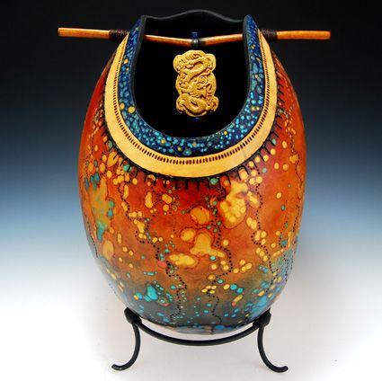 Claudia Pflueger gourd art