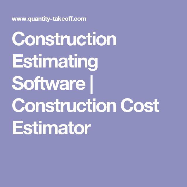 Construction Estimating Software | Construction Cost Estimator