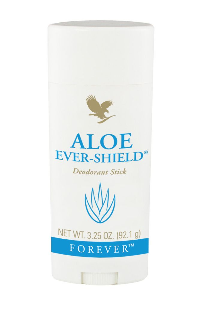Forever Living - Aloe Ever-Shield Deodorant Stick. Effective, long lasting and non-irritating underarm protection that can be used directly after shaving. Clean scented, free from aluminium salts, lasts for months and will not stain clothes. Visit www.global-forever.com