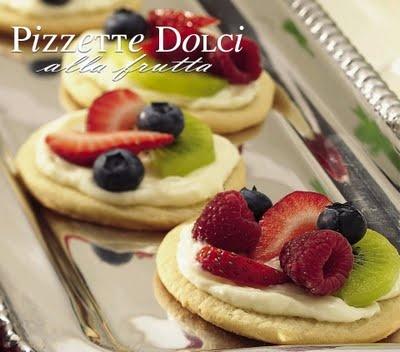 Pizzette dolci alla frutta
