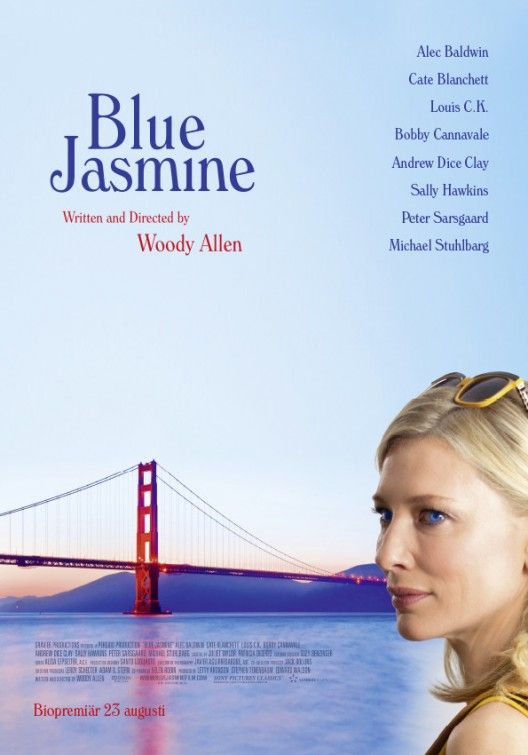 Saw Blue Jasmine 21st September...went in thinking this could be really bad or really good as not my usual movie...Cate Blanchett was great but definately not my type of movie! Some witty remarks lots of Xanax & drinking to go along with the nervous breakdown and generally a depressing story.