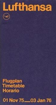 — Lufthansa Timetable. Preliminary edition (1975)