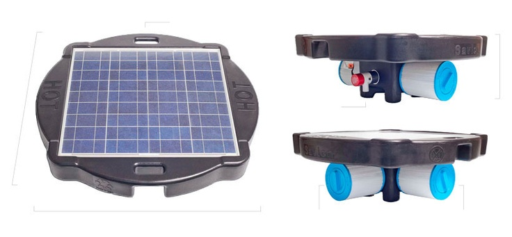 Solar Pool Pump and Filter System - Natural Current Floating Savior Solar Pump and Filtration System Savior