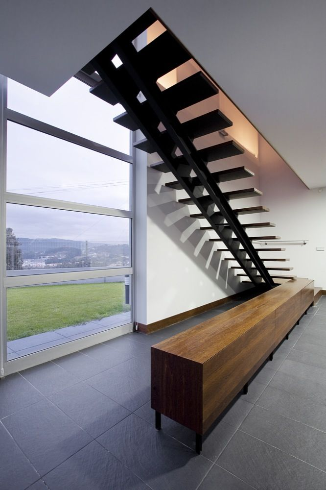 modern stairs the stairs inside house by manuel ribeiro black steel