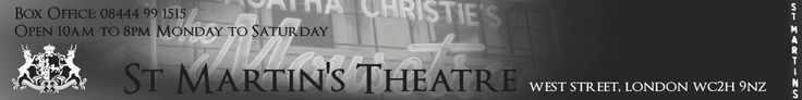 "Classic Agatha Christie Theatre - ""The Mousetrap"" longest running theatre production and a favorite treat for me! St. Martin's Theatre"