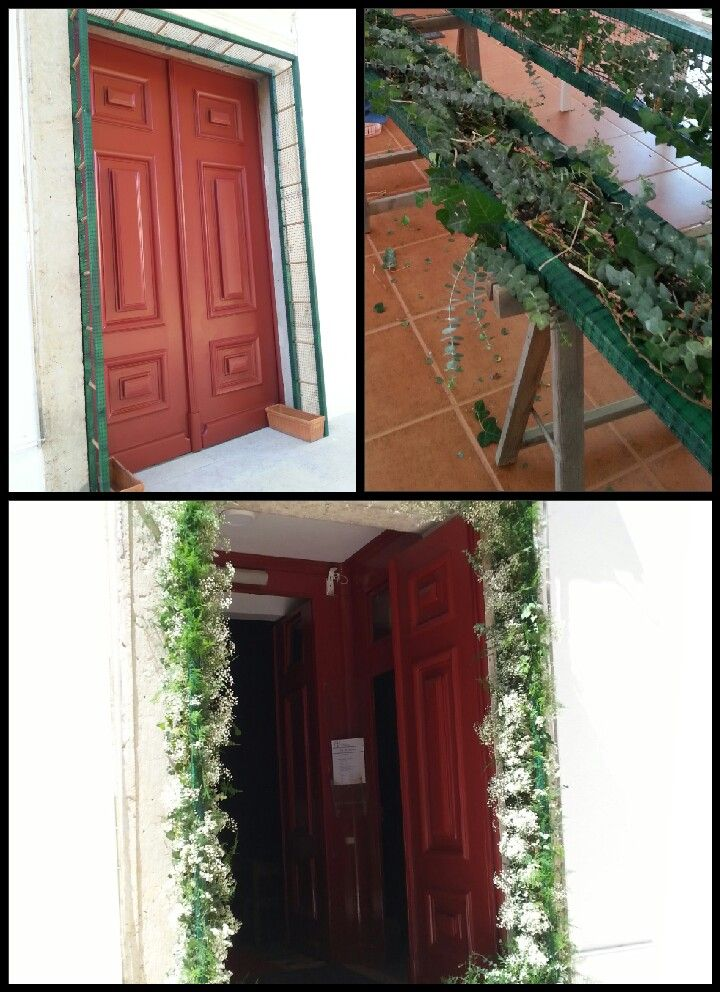 Door arbor for a special wedding.