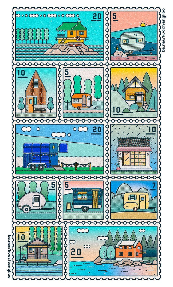Vector Stamp Illustrations