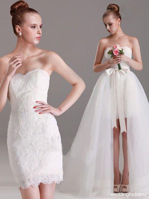 Свадебные платья трансформеры: необычные платья два в одном ...