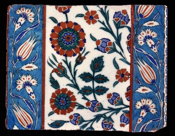 tile; Ottoman dynasty; 16thC; Iznik