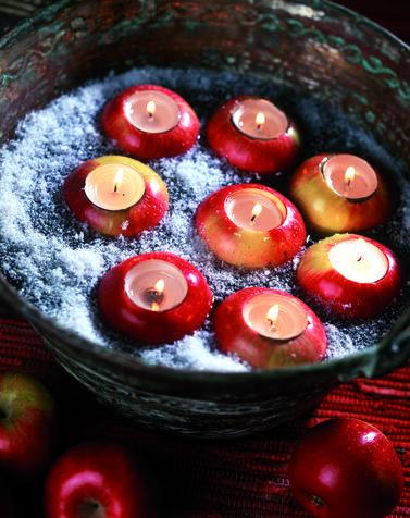 Frutta con candele: decorazioni fai da te