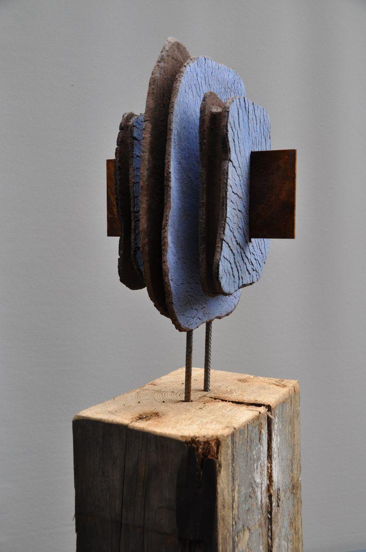 aardewerk/cortenstaal/hout